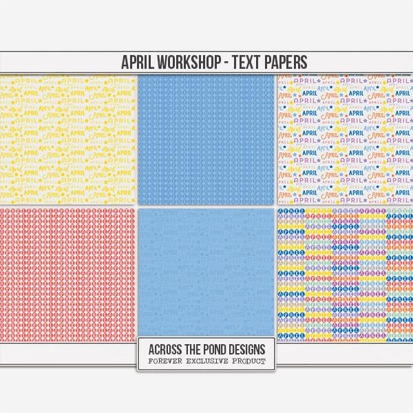 April Workshop - Text Papers
