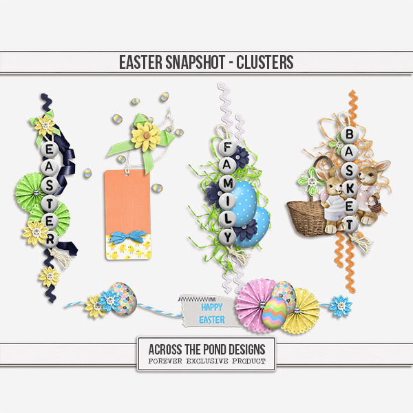 Easter Snapshot - Clusters Digital Art - Digital Scrapbooking Kits