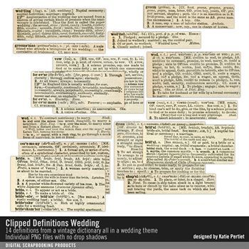 Clipped Definitions Wedding