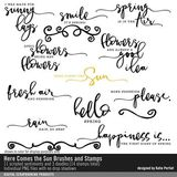 Here Comes The Sun Brushes And Stamps