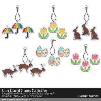Little Enamel Charms Springtime