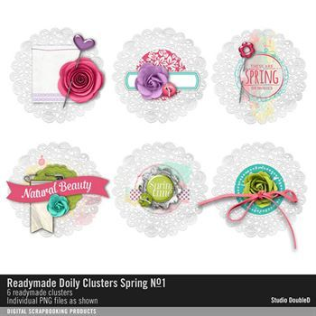 Readymade Doily Clusters Spring No. 01