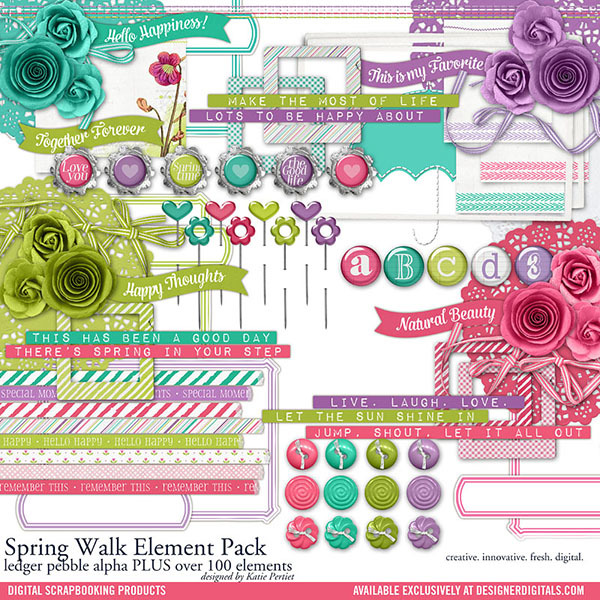 Spring Walk Element Pack