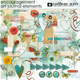 Encouragement Art Journal Element Pak