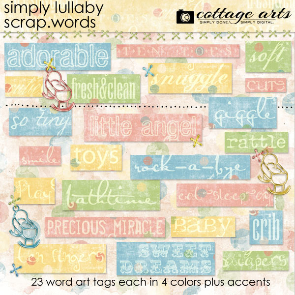 Simply Lullaby Scrap.words