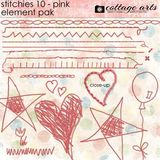 Stitchies 10 - Pink Element Pak