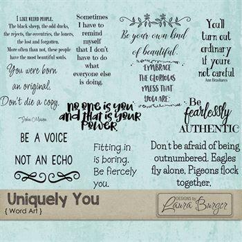Uniquely You Word Art