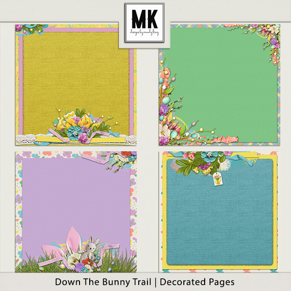 Down The Bunny Trail Collection - Decorated Papers