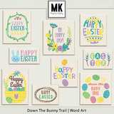 Down The Bunny Trail Collection - Word Art