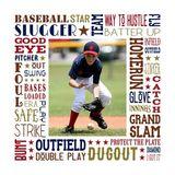 Baseball Star Subway Art Canvas