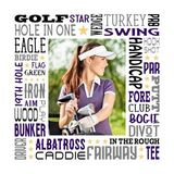 Golf Star Subway Art Canvas