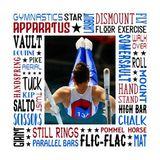 Gymnastics Star - Male Subway Art Canvas