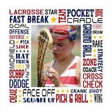 Lacrosse Star Subway Art Canvas