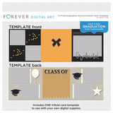 Tri-fold Graduation Announcement Card Template