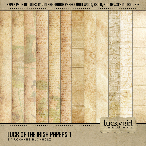 Luck Of The Irish Papers 1 Digital Art - Digital Scrapbooking Kits