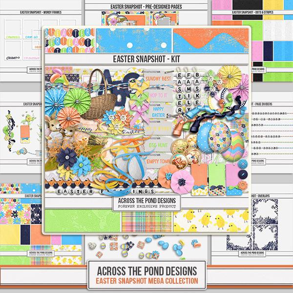 Easter Snapshot - Mega Collection Digital Art - Digital Scrapbooking Kits