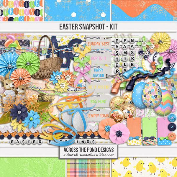 Easter Snapshot - Page Kit Digital Art - Digital Scrapbooking Kits