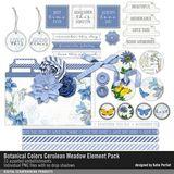 Botanical Colors Cerulean Meadow Element Pack
