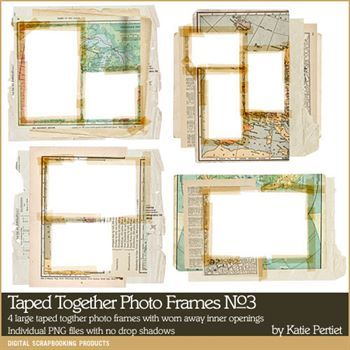 Taped Together Photo Frames No. 03