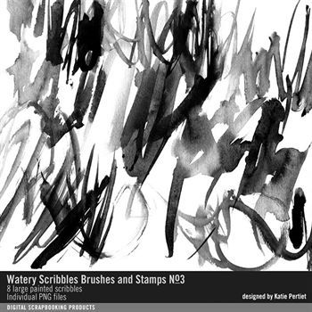 Watery Scribbles Brushes And Stamps No. 03