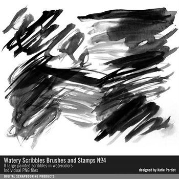 Watery Scribbles Brushes And Stamps No. 04