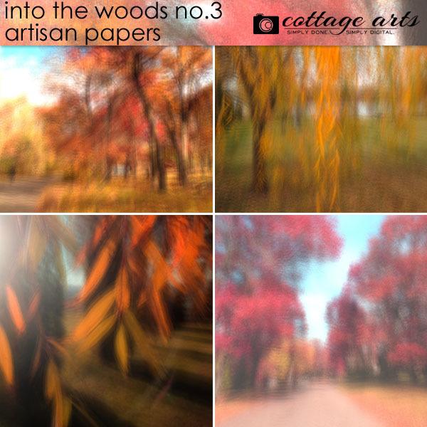 Into The Woods 3 Artisan Papers Digital Art - Digital Scrapbooking Kits