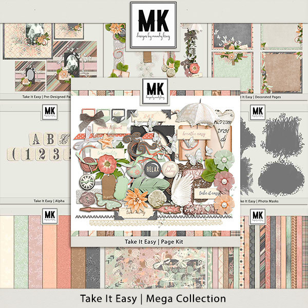 Take It Easy Mega Collection Digital Art - Digital Scrapbooking Kits