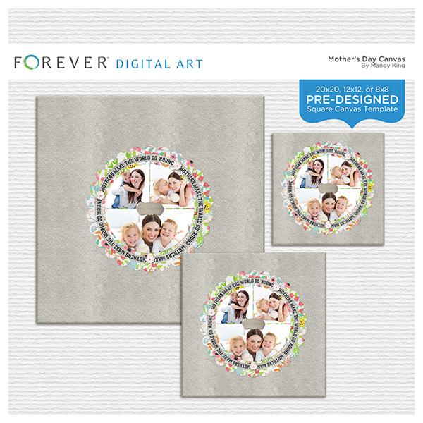 Mother's Day Canvas Digital Art - Digital Scrapbooking Kits
