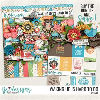 Waking Up Is Hard To Do - Bundle Digital Art - Digital Scrapbooking Kits