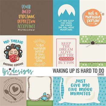 Waking Up Is Hard To Do - Cards Digital Art - Digital Scrapbooking Kits