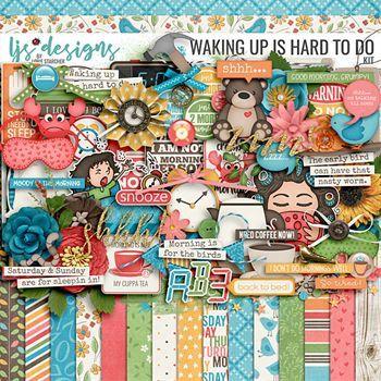Waking Up Is Hard To Do - Kit Digital Art - Digital Scrapbooking Kits