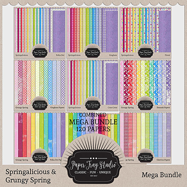 Springalicious & Grungy Spring Mega Bundle Digital Art - Digital Scrapbooking Kits
