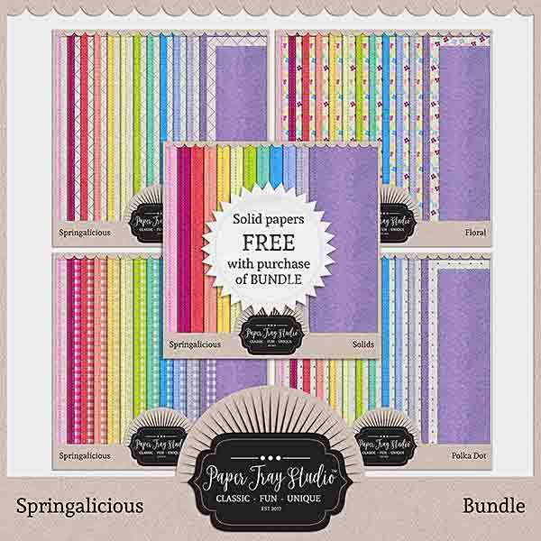 Springalicious - Bundle Digital Art - Digital Scrapbooking Kits