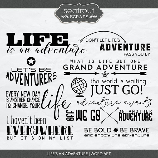 Life's An Adventure Word Art