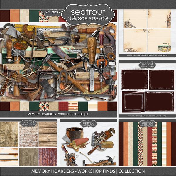 Memory Hoarders - Workshop Finds Collection Digital Art - Digital Scrapbooking Kits