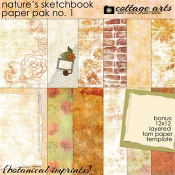 Nature's Sketchbook - Papers 1 - Botanical Imprints