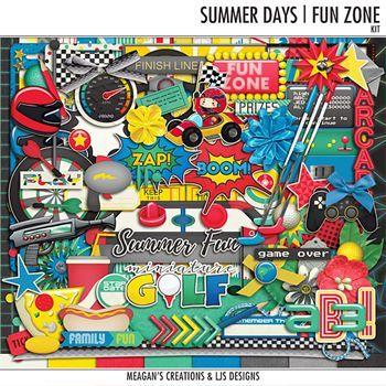 Summer Days - Fun Zone - Kit2 Digital Art - Digital Scrapbooking Kits
