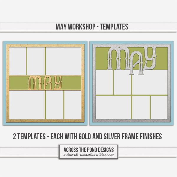 May Workshop - Templates Digital Art - Digital Scrapbooking Kits