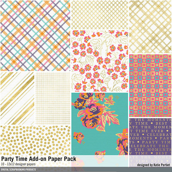 Party Time Add-on Paper Pack