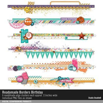 Readymade Borders Birthday