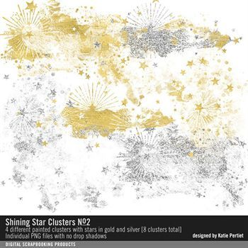 Shining Star Clusters No. 02 Digital Art - Digital Scrapbooking Kits