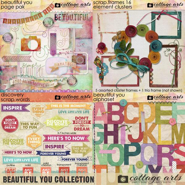 Beautiful You Collection Digital Art - Digital Scrapbooking Kits