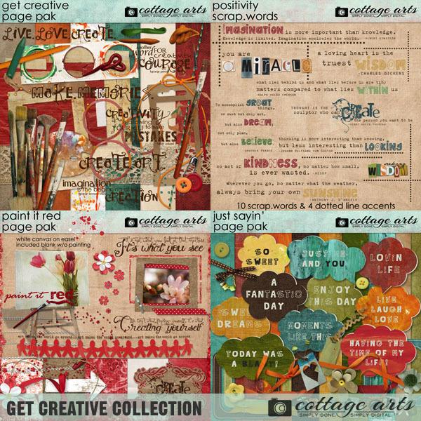 Get Creative Collection Digital Art - Digital Scrapbooking Kits