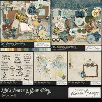 Lifes Journey - Your Story Bundle Digital Art - Digital Scrapbooking Kits