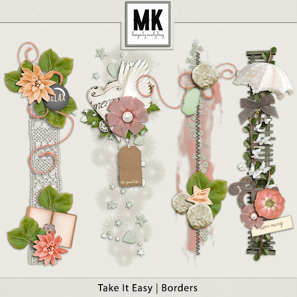 Take It Easy - Borders Digital Art - Digital Scrapbooking Kits