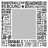 Basketball Star Subway Art Canvas