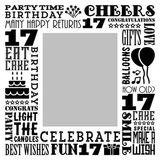 Birthday Milestones - Teenage 17