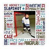 Ice Hockey Star Subway Art Canvas