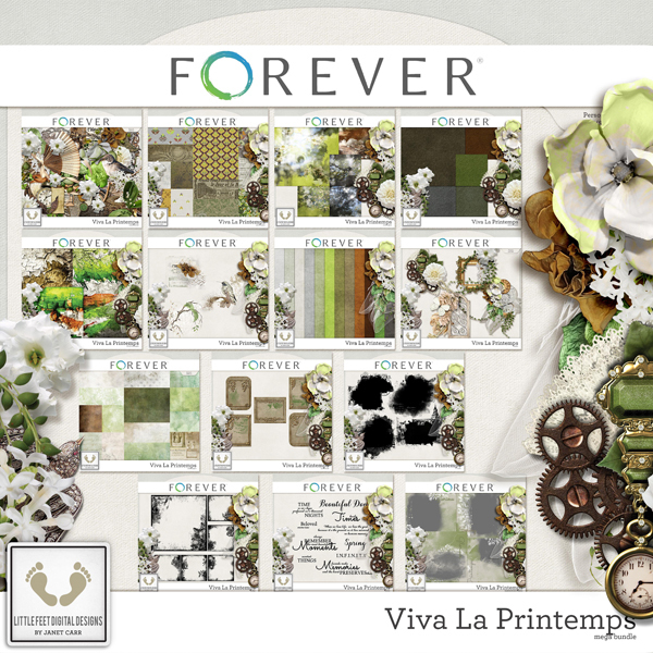 Viva La Printemps Mega Bundle Digital Art - Digital Scrapbooking Kits