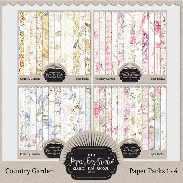 Country Garden I - Bundle Digital Art - Digital Scrapbooking Kits